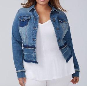 New Lane Bryant medium wash jean jacket